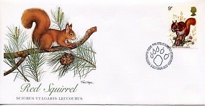 GREAT BRITAIN  1977  Wildlife Protection RED SQUIRREL    FDC738