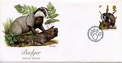 GREAT BRITAIN  1977  Wildlife Protection BADGER    FDC741