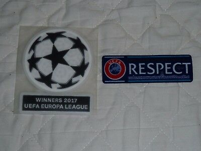 Champions League 2017/18 Sleeve Badge Set Iron On For Manchester Football Shirt