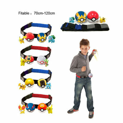 Pokemon Go Clip Kids Toy Figures Ball Cross Belt Carry Pokeballs Christmas Gifts