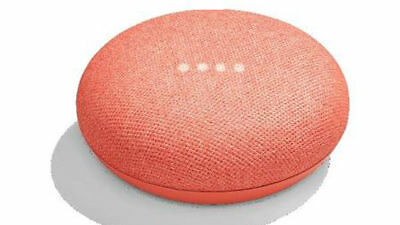 Google Home Mini - Smart Small Speaker - Coral -  BRAND NEW-SHIPS WORLDWIDE