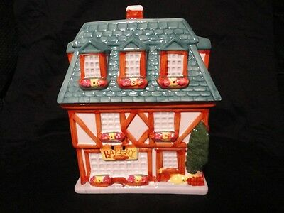 1999 Sherwood Collectable Bakery House Cookie Jar Stamped