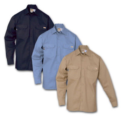 REED FR Clothing Shirts CAT1 100% Flame Resistant Cotton Industrial Work Uniform