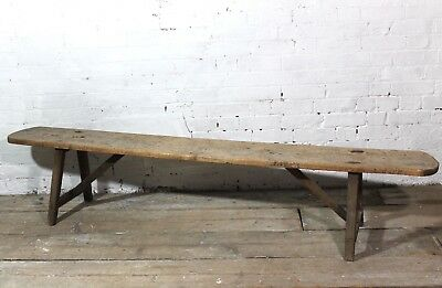 18th century French sycamore bench 2.1m long