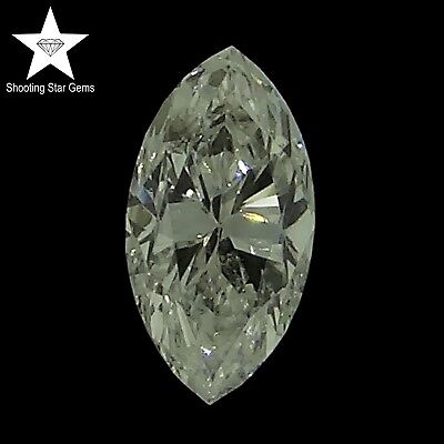 natural marquise cut diamond F SI2 0.18ct genuine loose diamonds