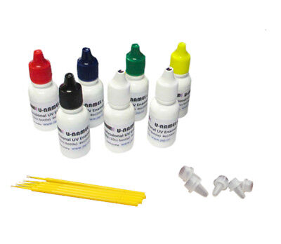 U-Namel Starter 7 Color Set (Red, Blue, Yellow, Black, White, Green and Clear)