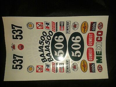 Sand Scorcher C  1980S Hpi Losi Tamiya  Decals Clear Vinyl Look A Like Stickers
