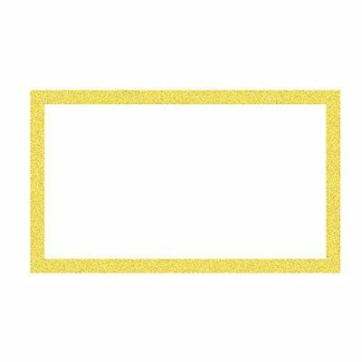 ArtSkills Glitter Framed Poster Board 13 x 22 Inches Pack of 60 Gold PA-2038