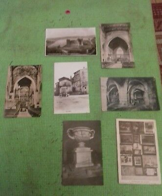 7 x Old Vintage Postcards Collection  Black white  Job Lot