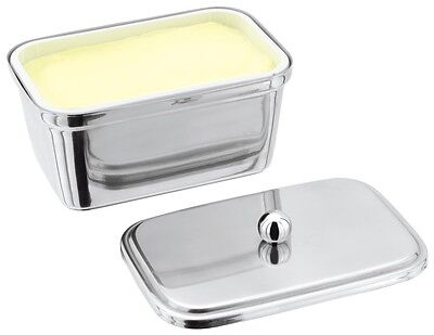 New Judge Stainless Steel Butter Margarine Spreads Tub Holder Dish
