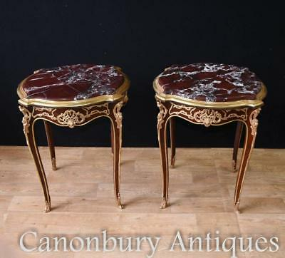 Pair Kingwood French Side Tables Cocktail Table Empire