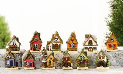 Fairy Garden Mini - Micro Mini Fairy House Village - Set of 12 Houses