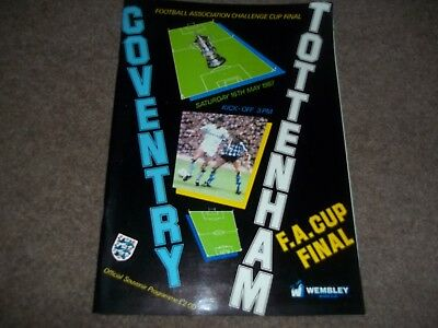1987 Fa Cup Final Coventry City V Tottenham Hotspur 16Th May 1987
