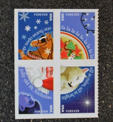 2017USA Forever - Christmas Carols - Block of 4 From Booklet  Mint NH  holiday
