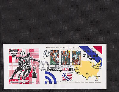Signed Pele First Day Issue Stamp