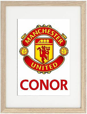 Manchester United A4 A3 Poster Name Personalised Premier League Mourinho Pogba
