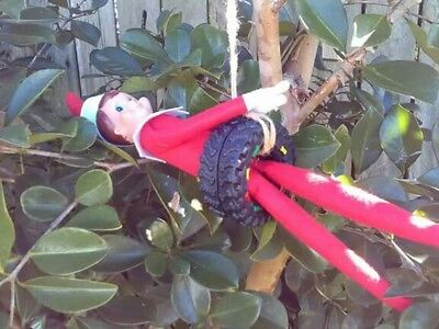 For use with Elf on the Shelf ELF TYRE SWING