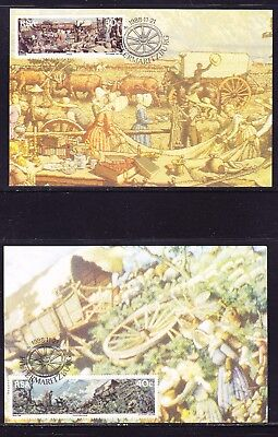 South Africa 1988 The Great Trek set 4 Maxi Cards