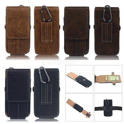 Leather Waist Hanging Belt Holster Clip Pouch Sleeve Bag Case For Cell Phones