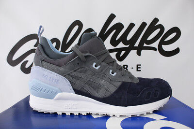 e77fbbfa03c5 Asics Gel Lyte Mt Carbon Light Grey Navy Blue Trail Running Hl7Z1 9797 Sz  10.5