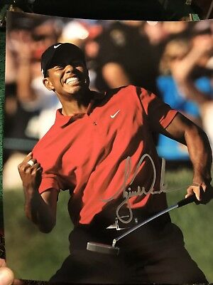 Tiger Woods Autographed Signed 8x10 Photo With COA