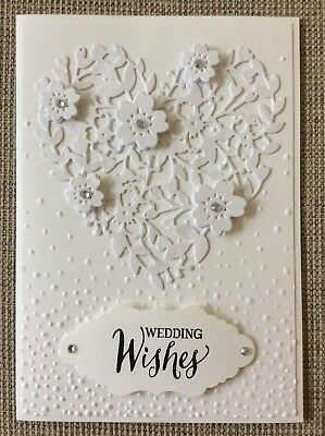 Handmade Blooming Heart Wedding Card