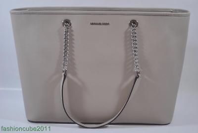 f34467692143 New MICHAEL KORS Jet Set Travel Chain-Strap Medium Multi-Function Tote -  Cement