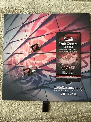 Detroit Red Wings Little Caesars Arena Opening Night 2017 Commemorative Ticket