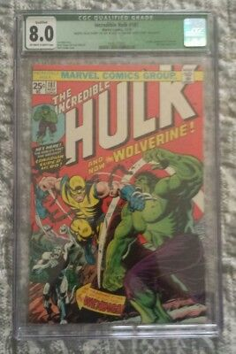 The Incredible Hulk #181 (Nov 1974, Marvel) CGC 8.0 1st appearance of Wolverine!