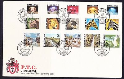 Zimbabwe 1980 Definitives LARGE  First Day Cover  - Unaddressed