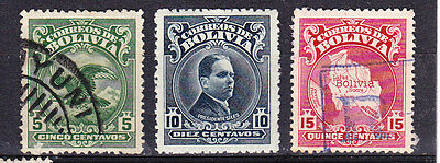 Bolivia 1928 Issues 221/23 - Used