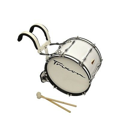 """Trixon Field Series II Marching Bass Drum 18 by 12"""" - White"""