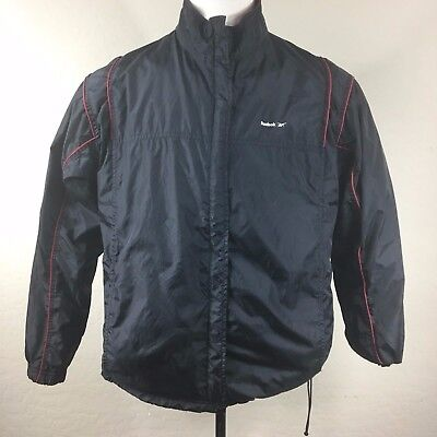 286e2028e5ec1 REEBOK VINTAGE MENS X-Large 90's Nylon Black Warm Up Windbreaker Retro  Jacket