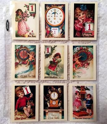 Happy New Year~9 Pocket Pen Pal~Cards only~No Protector~#52~judysjemscrafts