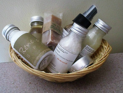 New Spa set from SAK P'O-Body Spray, Lotions, Gels Soap, Tea Light and Basket