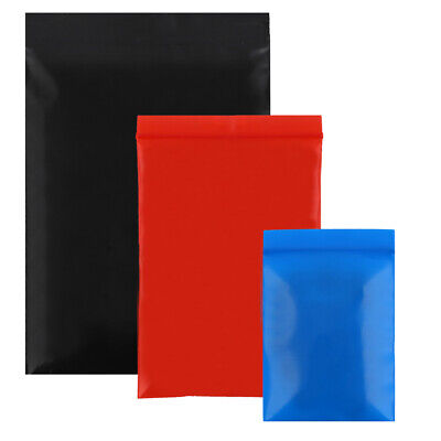 New Flat Plastic Zip Lock Reclosable Sample Bags Pouches Variety Colors Sizes
