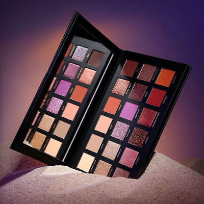 18 Colours Eyeshadow Dusk Palette Desert Shimmer Matte Huda Beauty Makeup Eye