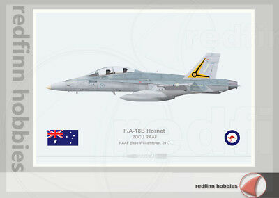 Warhead Illustrated F/A-18B Hornet RAAF 2OCU Aircraft Print