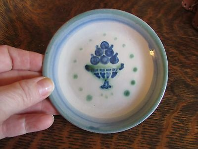 Older M.a. Hadley Butter Pat Dish / Coaster  With Fruit Basket