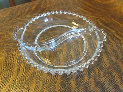Imperial Glass Round Divided Relish Dish