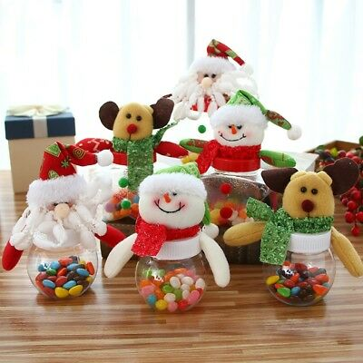 Plastic Christmas Gift Bags Clear Candy Sweet Bottles Kids Gift Home Party Decor