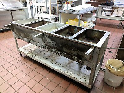 5 Compartment Gas Steam Table