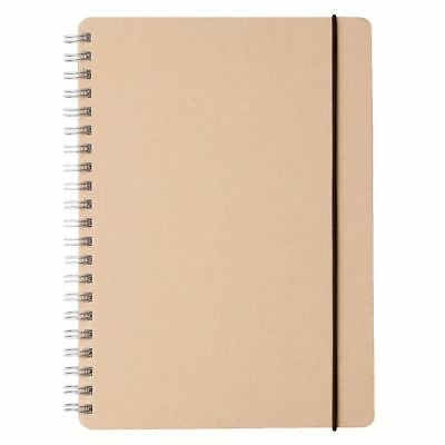Muji Recycle Paper Double-ring Dot Grid Notebook A5 70 Sheets with Rubber Strip