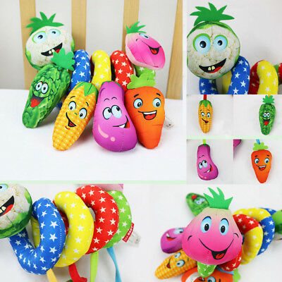 Hot Newborn Baby Bed Hanging Plush Rattle Teether Musical Cute Toys US STOCK