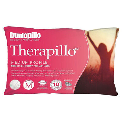 NEW Dunlopillo Therapillo Premium Medium Memory Foam Pillow