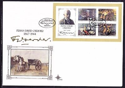 South Africa 1985 Frans David Oerder Miniature Sheet  First Day Cover Large