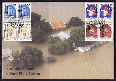 South Africa 1988 National Flood Disaster  First Day Cover Large