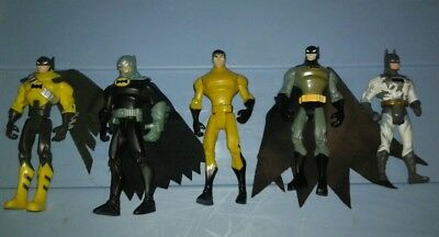 Dc Batman Action Figure Lot Of Five Bruce Wayne