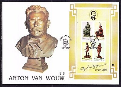 South Africa 1992 Anton van Wouw Miniature Sheet First Day Cover Large