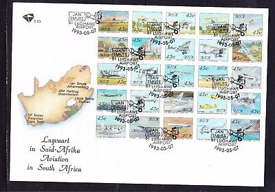 South Africa 1993 Aviation  Miniature Sheet First Day Cover Large